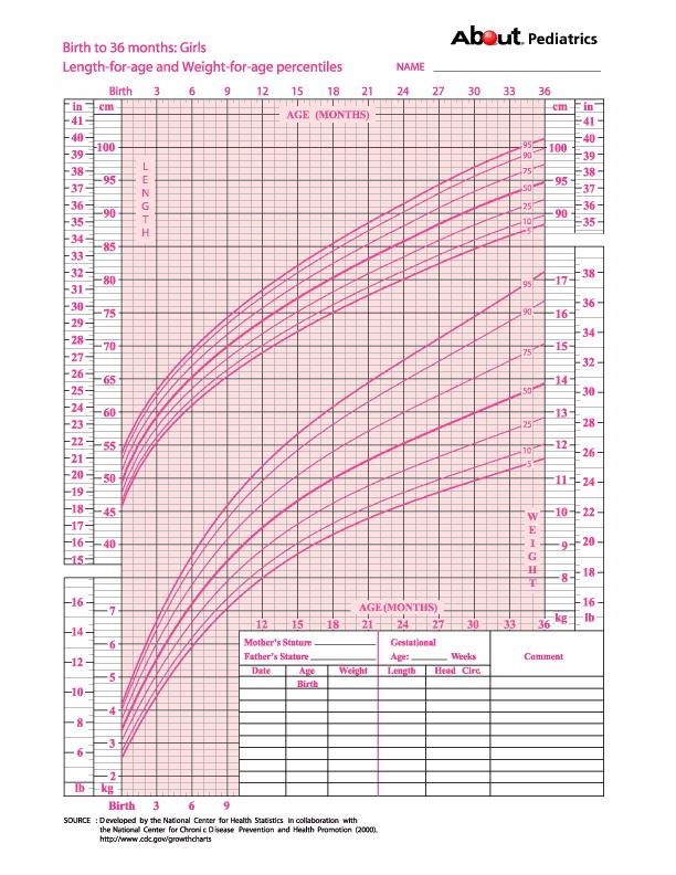 Baby Weight Growth Chart Template   Free Pdf Documents